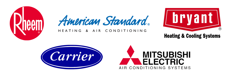 Rheem, American Standard, Bryant, Carrier, Mitsubishi
